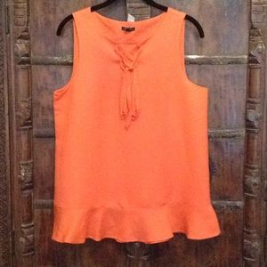 Ann Taylor Sleeveless Linen Top